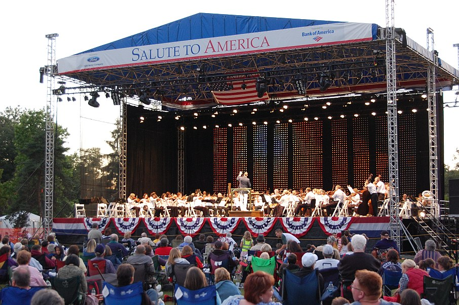 Photo from previous Salute to America Concert at Greenfield Village