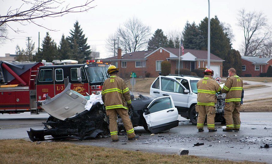 Horrible car accident in Dearborn